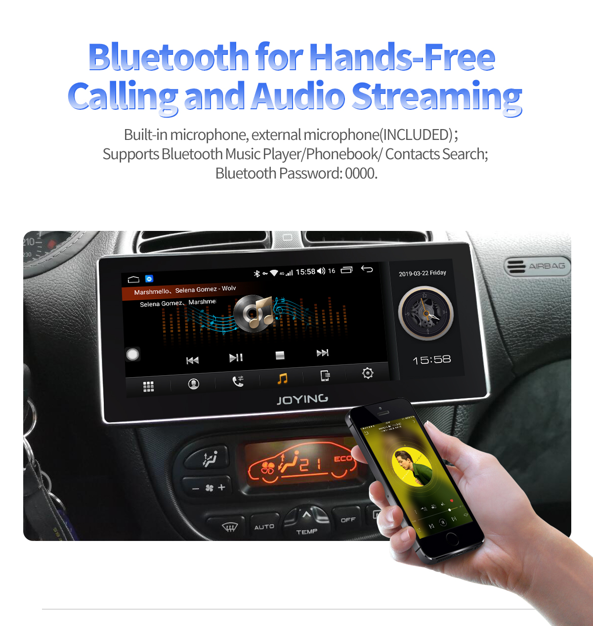 Joying 8 8 Inch Single Din Android Auto Carplay Car Radio Head Unit Support  4G Internet
