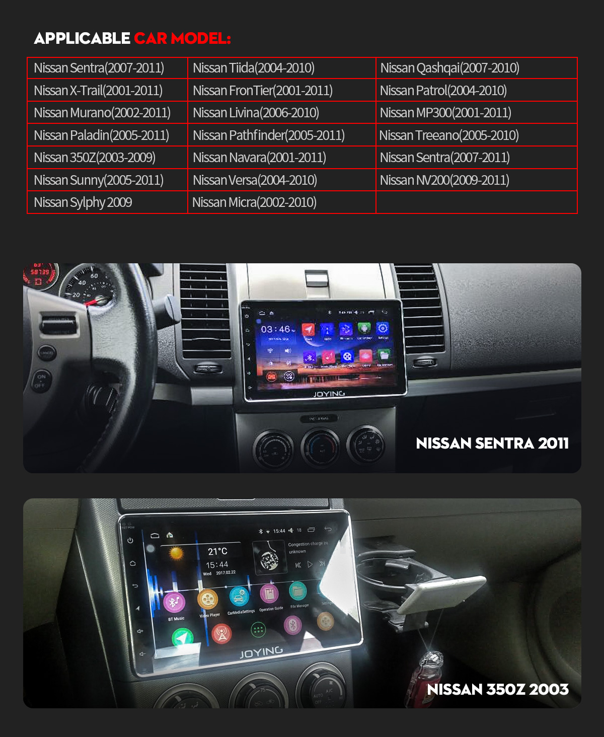 Joying Hot Sale Android 80 Oreo Car Sound System 4gb 32gb For 2011 Nissan Frontier Stereo Wiring If You Are Not Sure Whether The Unit Can Fit Your Carplease Send Modelyear And Dashboard Picture To Info Or Support