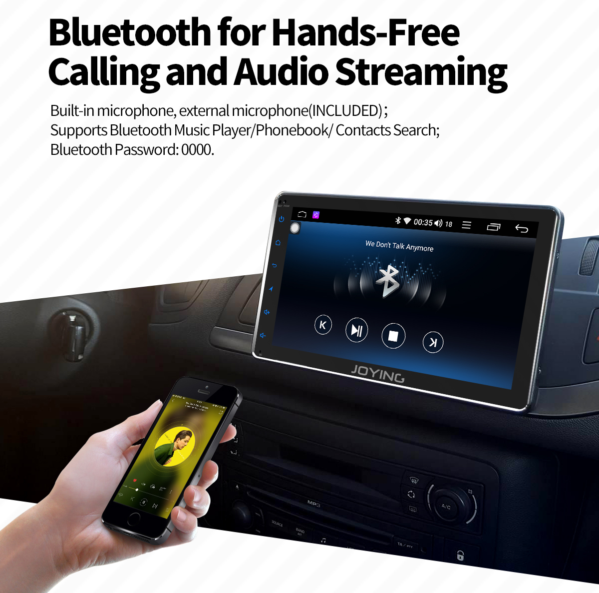 Joying Android 8 1 0 Octa Core 7'' Single Din Car Entertainment System with  Built-in DSP