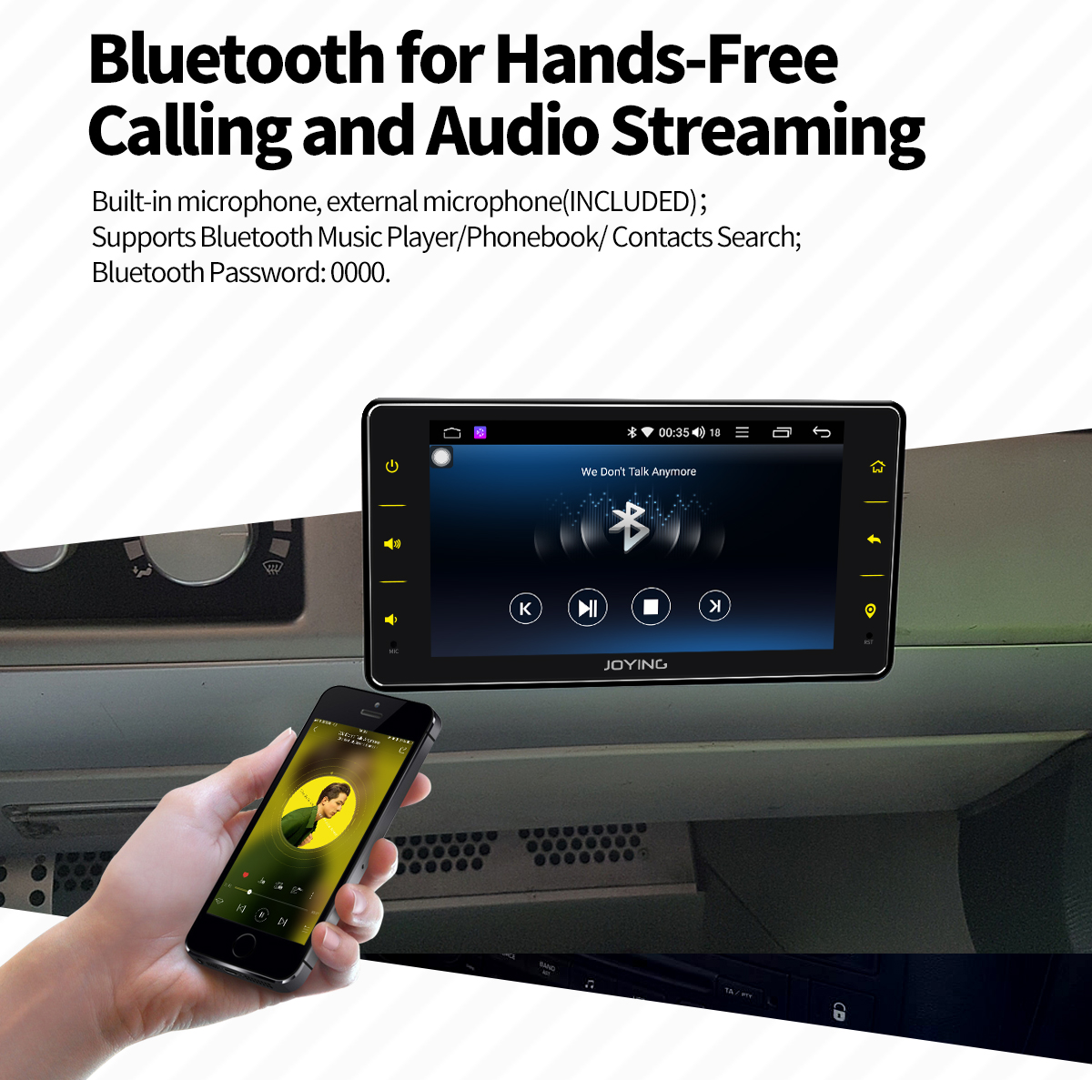 Joying 6 2 Inch Single Din Android 8 1 0 Oreo Car Stereo Head Unit with  4GB/32GB