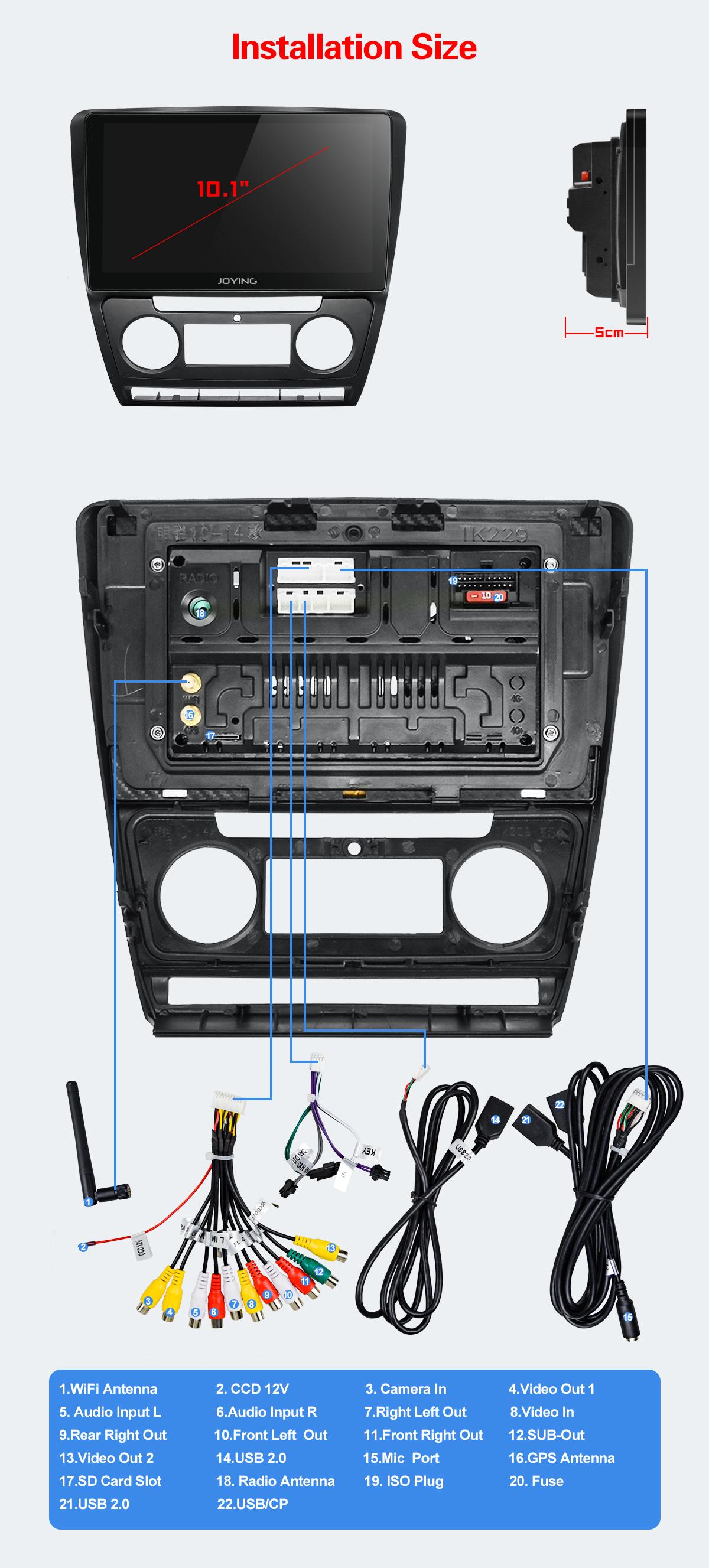Skoda Octavia 2007 2014 Android 810 Touch Screen Car Audio System 1 Fuse Box 1joying Head Units Cant Support Like Below Ipod Original Gps Antenna Back Up Rear Camera Bluetoothoriginal Usb And